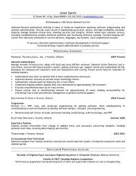 It Security Resume Examples by Network Administrator Resume Sample Jennywashere Com