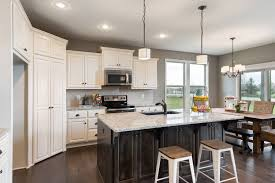 Large Kitchen Cabinets White Kitchen Cabinets And A Large Island In The Bayfield Floor