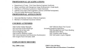 download marine chief engineer sample resume