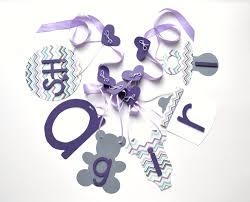 it u0027s a banner purple and grey chevron baby shower