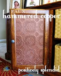 kitchen cabinets faux hammered copper tutorial paintable