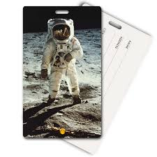 3d lenticular privacy luggage tag moon landing lantor ltd