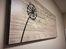 dandelion wood plaques wall amazing rustic wood wall decor diy wood wall decor wood wall