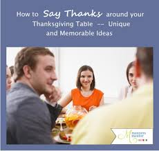 how to say thanks around your thanksgiving table unique and