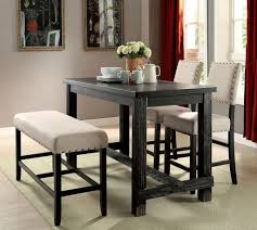 counter height dining table with bench casual dining room table sets sania ii counter height dining room
