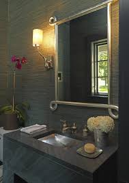 Modern Wallpaper For Bathrooms Gray Grasscloth Design Ideas