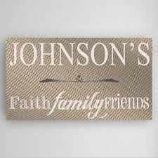 personalized faith family and friends canvas sign