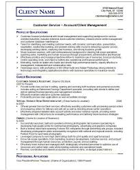 Resume For Customer Service Resume Template For Customer Service Resume Template And