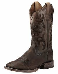ariat s boots size 12 ariat s cowboss 12 square toe boots ombre chocolate