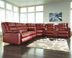 Ashley Furniture Microfiber Sectional Brolayne Durablend 3 Piece Reclining Sectional By Signature