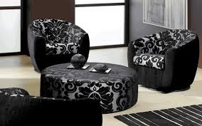 Black And White Chair And Ottoman Design Ideas Living Room Harmonious Furniture For Living Room Ideas Black And