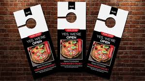 door hanger flyer template fast food open door hanger template flyer templates creative