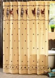 Western Bathroom Shower Curtains Western Theme Bathroom Decor Horses With Shower Curtain