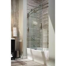 Bathtub Doors Home Depot by Delta Door U0026 Delta Classic 400 Curve 60 In X 62 In Frameless
