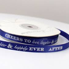 printed ribbons for favors laughter happily after printed ribbon for wedding