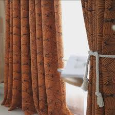 Burnt Orange Curtains Fabric Jacquard Burnt Orange Curtains Blackout Panels