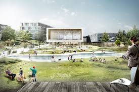 designboom green school c f møller enhances urban and student life of copenhagen business