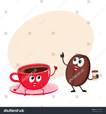 espresso coffee clipart funny coffee bean espresso cup characters stock vector 613387076