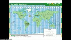 North American Time Zones Map by Time Zones Youtube