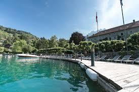 chambres d hotes talloires 74 ponton privé de l abbaye de talloires donnant accès au lac d annecy