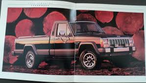 1985 jeep comanche jeep comanche pioneer eliminator chief laredo original sales brochure