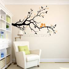 compare prices on wall decal brids online shopping buy low price family flying birds tree wall stickers arts home decorations living room bedroom decals posters pvc wall