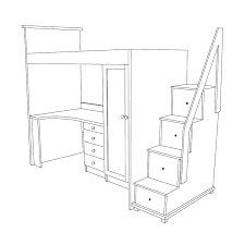 Plans For Bunk Bed With Stairs And Drawers by Unique Bunk Beds With Desk And Stairs To Ideas