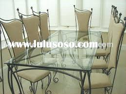 wrought iron dining table glass top wrought iron kitchen sets glass top dining table with wrought iron