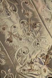 Wedding Dress Fabric Background Close Up Of Vintage Wedding Dress Fabric And Beading