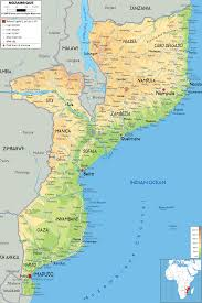 Africa Geographical Map by Mozambique Map