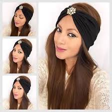 headband wrap bohemian jeweled turban headband fashion wrap wide