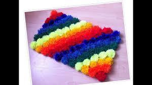 rainbow pom pom shag rug diy how to make a rug at home diy rug