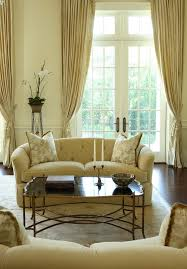 goblet pleat living room traditional with yellow walls farmhouse