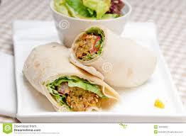 arabic wrap falafel pita bread roll wrap sandwich stock image image of herbs
