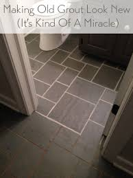 Replacing Grout In Bathroom Making Old Discolored Grout Look Like New Young House Love