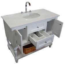 42 bathroom vanity cabinet single vanity cabinet white shaker westwood single 42 inch usa