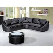 2224 modern black leather sectional sofa