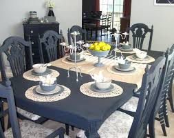 painted dining room furniture ideas love the blue painted table
