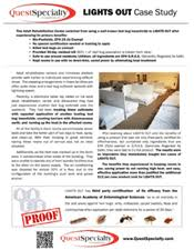 lights out bed bug killer brochures flyers info sheets from questspecialty