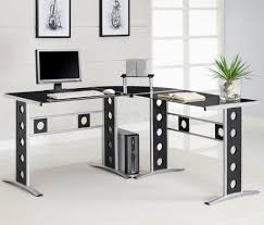 home office office minimalist white laptop corner desk modern