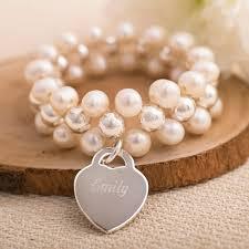 double pearl bracelet images Personalised double freshwater pearl bracelet gettingpersonal co uk jpg