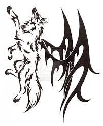 winged wolf tattoo tattoos pinterest wolf tattoos tattoo