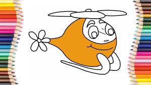 how to draw helicopter coloring pages for children art colours
