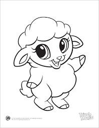 learning friends sheep baby animal coloring printable 255