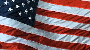 13 Stars In The United States Flag American Flag Slow Motion Us Waving Flying Flag Taken On High
