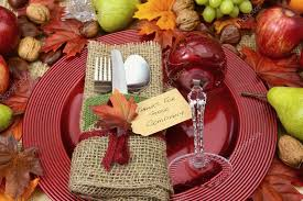 rustic thanksgiving table place setting stock photo amarosy