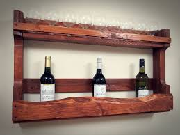 creative ideas for wine rack shelf from recycled pallet wood