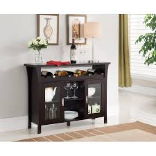 console table with wine storage richard espresso wood contemporary wine rack breakfront sideboard