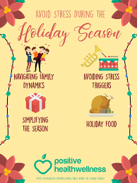 how to avoid stress during the season infographic