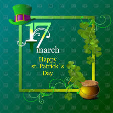st patrick u0027s day card square frame ornate with top hat clover